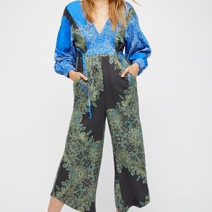 NWOT Free People Blooming Fields Jumpsuit Size L